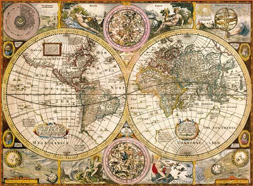 puzzle 3000 pezzi mappa-antica