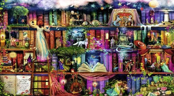 puzzle 1000 pezzi libreria-fate