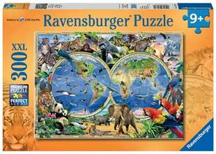 puzzle bambini animali-del-mondo