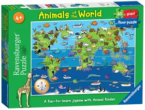 puzzle bambini animali mondo