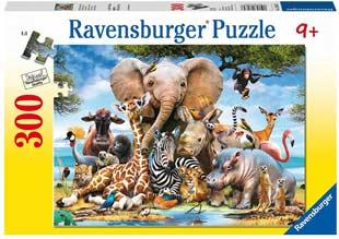 puzzle bambini cuccioli africa