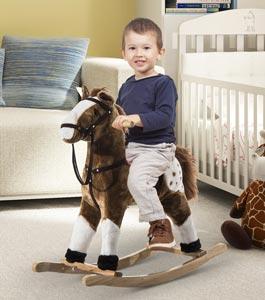 cavallo a dondolo-peluche